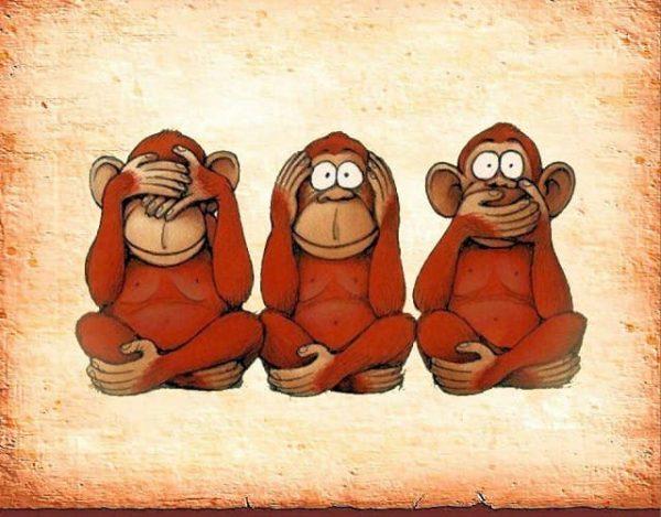 Enseñanzas de los tres monos sabios